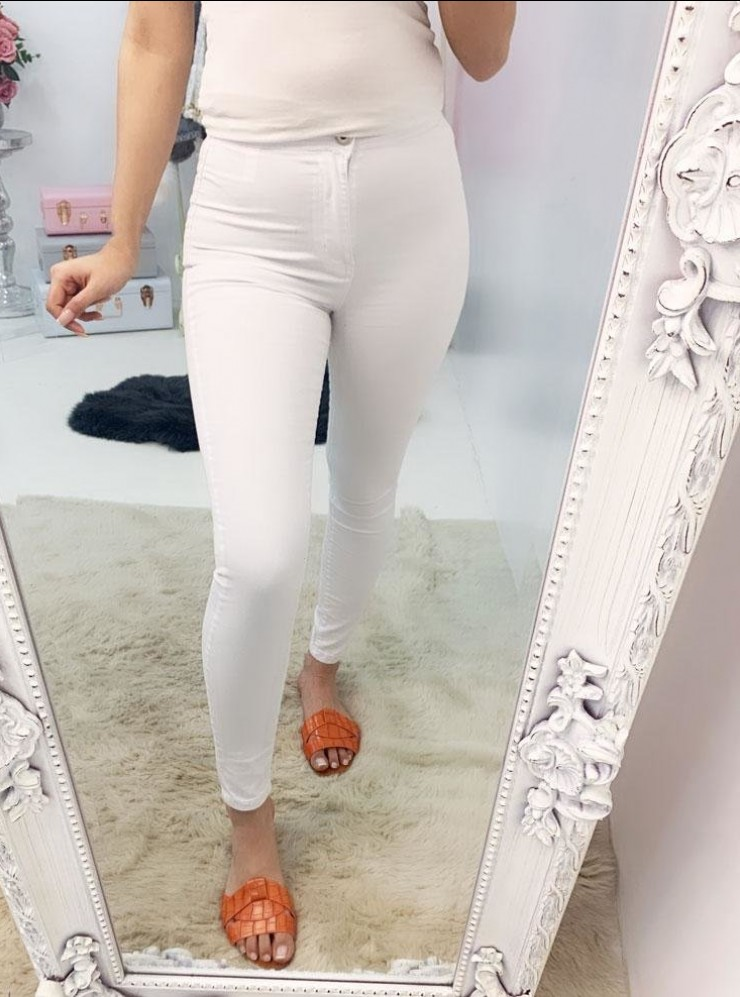 Pippin White Skinny High Waisted Jeans