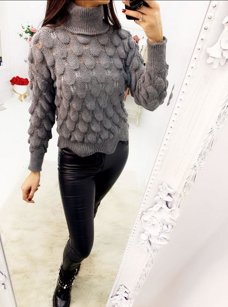 Scarla Cable Knitted Roll Neck Jumper