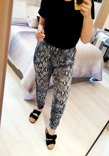 Bunton Super Stretch Elasticated Snake Print Silky Hareems