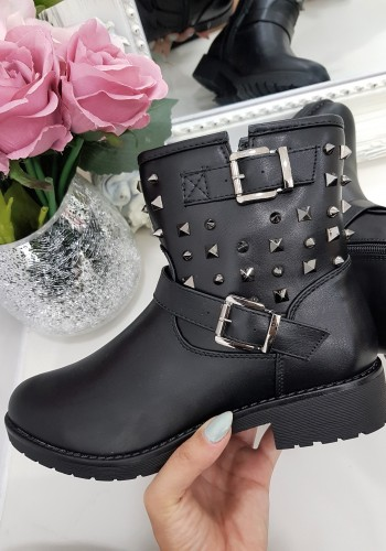 Maisy studded detailed biker boot