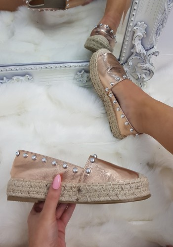 Malaysia Pearl Studded Espadrilles