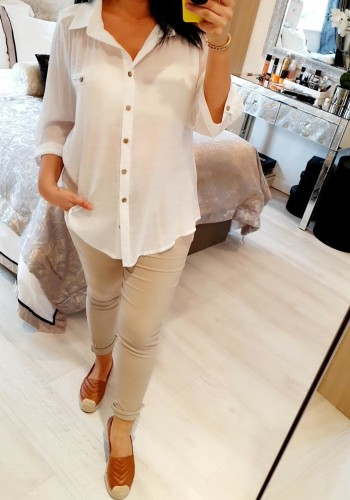 Chaney Linen Look Shirt