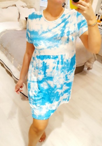 Elmira Tie Dye Babydoll Dress