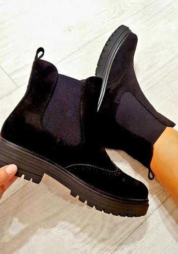 Leighton Faux Suede Slip On Chelsea Boots