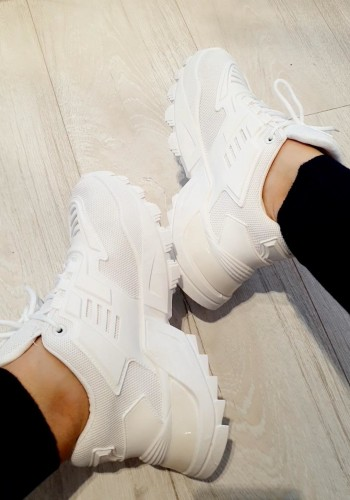 Donelle White Chunky Sole Trainers