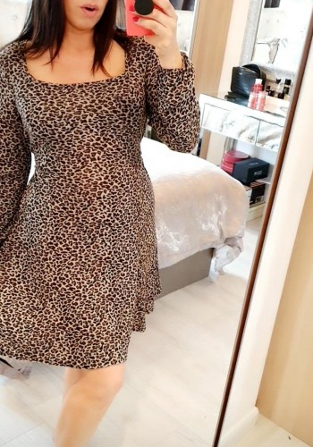 Sadia Leopard Print Tie Waist Dress
