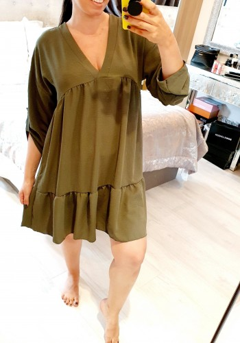 Helany Oversized Floaty Button Detail Smock Dress
