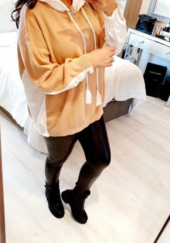 Bentlie Oversized Tassel Toggle Detailed Hooded Sweatshirt