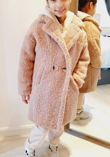 Marley Oversized Longline Kids Teddy Coat