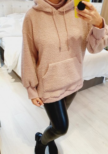 Amberlina Oversized Teddy Hooded Jumper