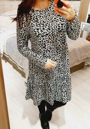 Camilly Cheetah Print Super Soft Smock Dress