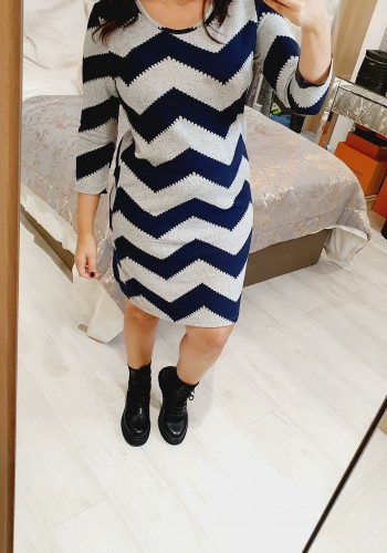 Gretchen Super Soft Zig Zag Printed Knitted Dress