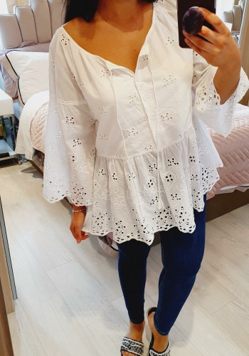 Grace White Embroidery Anglaise Blouse