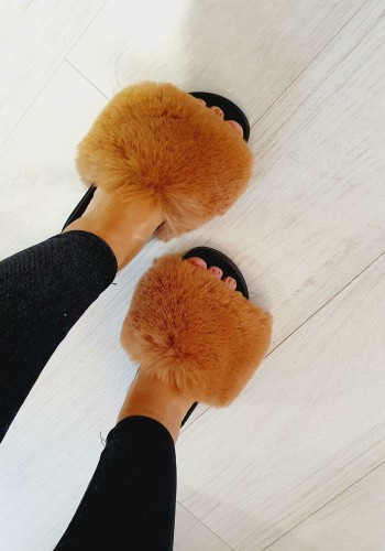 Alice Faux Fur Fluffy Sliders