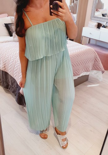 Reece Pleated Double Layer Jumpsuit