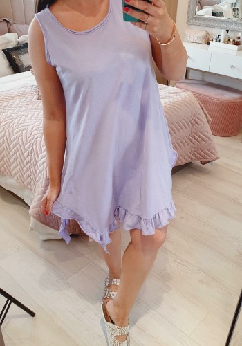 Marie Frill Detailed Loose Fit Cotton Dress