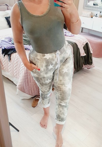 Claire Acid Wash Star Printed Joggers