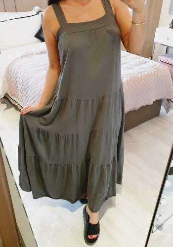 Ezzy Tiered Oversized Cotton Maxi Dress
