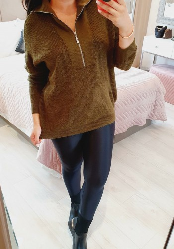 Toma Knitted Cable Knit Super Soft Zip Jumper