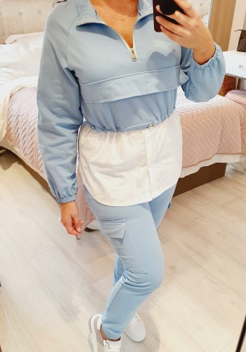 Lineker Elasticated Toggle Waist Pocket Shirt Detailed Loungewear Set