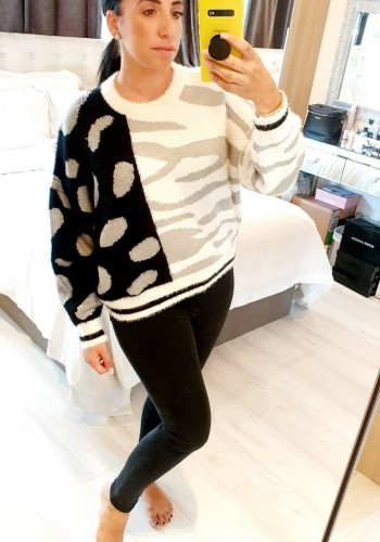 Ryleigh Animal Print Super Soft Knitted Jumper