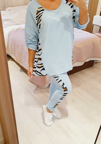 Tia Animal Print Loose Fit Super Soft Loungewear Set