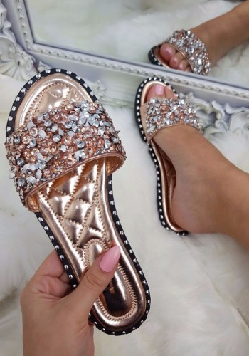 Rosaria Crushed Diamante Sliders