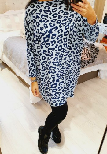 Mona Leopard Print Loose Fit Jumper