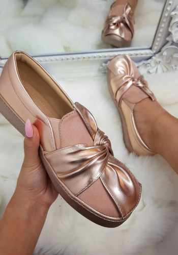 Jasmyn metallic knotted bow pumps