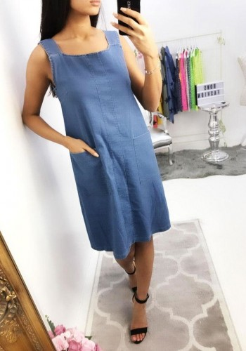 Alana Pocket Denim Dress