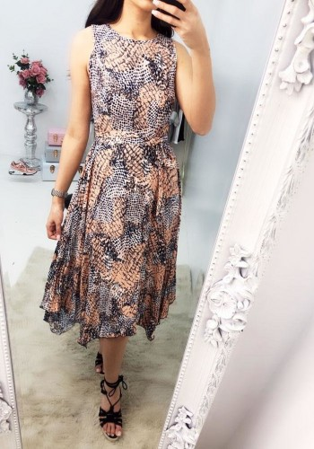 Ammie Animal Print Sleeveless Skater Dress