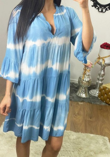 Astrid Oversized Tie Dye Smock Dress