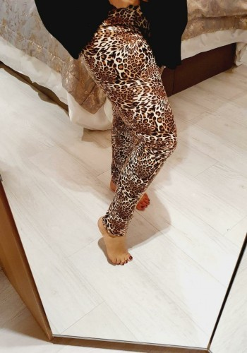 Ella Leopard Faux Leather Leggings