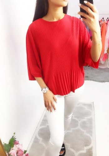 Beverley Batwing Pleated Top