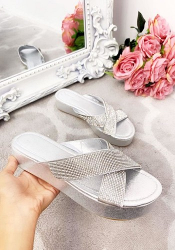 Bobbie Diamante Cross Over Sandals