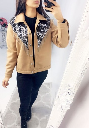 Brooklyn Sequin Tassel Felt Collar Jacket