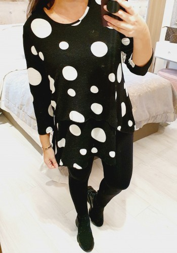 Mylina Polka Dot Super Soft Thin Knit Jumper