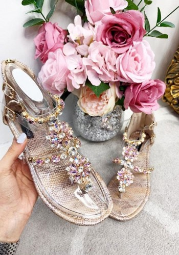 Caroline Chunky Jewel Sandals
