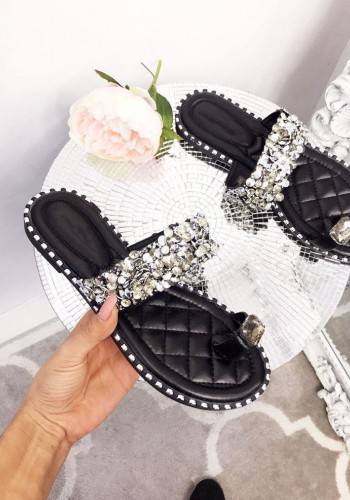 Casie Crushed Diamante Strap Sandals