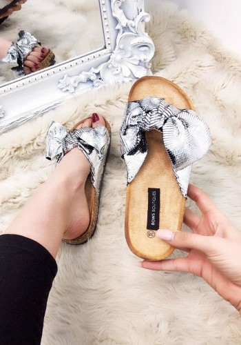 Dixie Metallic Knitted Sliders
