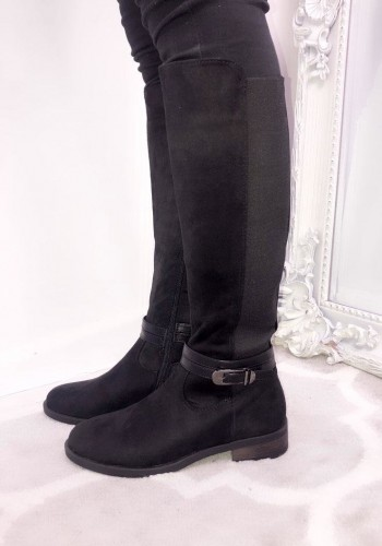 Fiona Faux Suede Knee High Boots