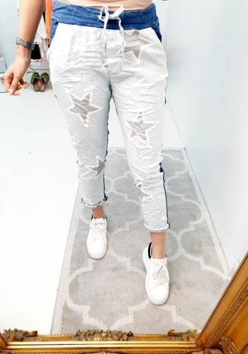 Francis Denim Star Two Tones Joggers