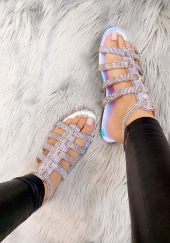 Glory Diamante Detailed Cut Out Gladiator Sandals