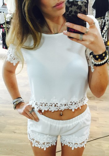 Jenna crochet top and shorts set