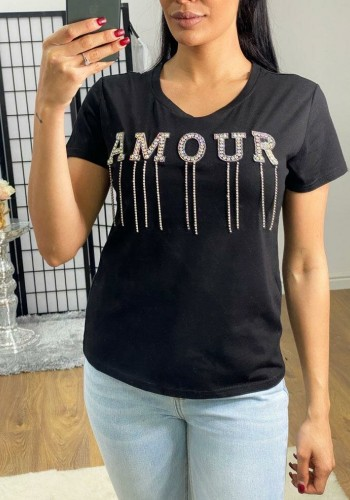 Jodora AMOUR Diamante Detailed T-shirt