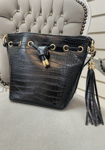 Kassin Faux Leather Croc Print Mini Hand Bag