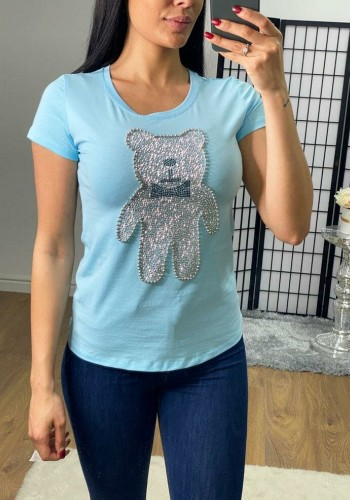 Naz Studded Teddy Bear Detailed T-shirt