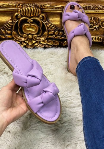 Elra Faux Leather Knotted Sandals