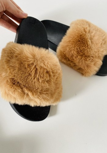 Bayley Faux Fur Super Fluffy Slip On Sliders