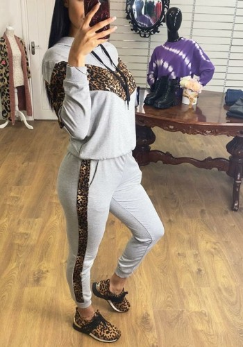 Caprise Leopard Panel Loungewear Set